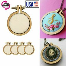 10 Pcs Mini Embroidery Hoop Ring Wooden Cross Stitch Frame For Hand Craft Hot