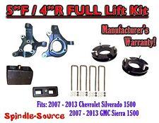 "2007 - 2013 Chevy Silverado GMC Sierra 1500  5"" inch / 4""  Spindle LIFT KIT  2WD"