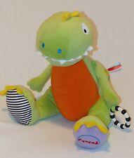 Marks & Spencer Plush Green Dinosaur Dragon Baby Activity Soft Toy Squeak Dino