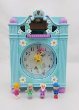 Polly Pocket Fun Time Clock Play Set Completo BLU COLLEZIONE Figure