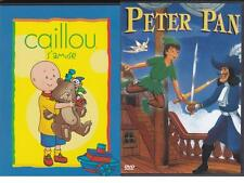 LOT 2 DVD CAILLOU S'AMUSE + PETER PAN