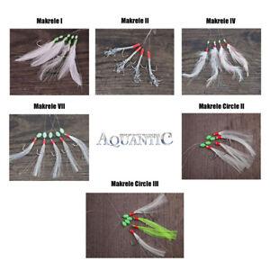 Aquantic Makrelenvorfach Rig Pilksystem Meeresvorfach Paternoster Haken 1/0 2/0