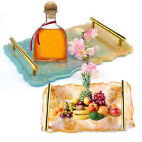 Irregular Resin Tray Mold Large Wave Table Mat DIY Silicone Coaster Mould Hot