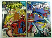 Marvel AMAZING SPIDER-MAN #397 398 RARE Newsstand/UPC VARIANT VF/NM Ships FREE!
