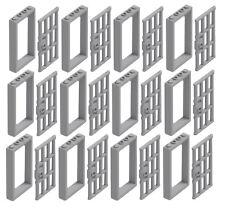 ☀️NEW LEGO X12 Light Bluish Gray Door Frame 1x4x6 W/ Handle Prison Jail Bars