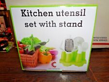 CNS Kitchen Utensil Set Stand Includes Bottle Opener,Pizza Cutter,Ice 8 PCS SET