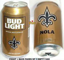 2017 Nfl Kickoff New Orleans Saints Bud Light Beer Can Louisiana Football Sports
