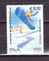 S27252) Italy MNH 2001 Snowboard 1v
