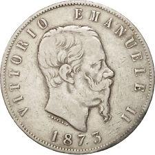 [#450752] Italie, Vittorio Emanuele II, 5 Lire, 1873, Milan, TB+, Argent, KM:8.3
