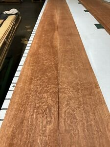 Pommele Sapele Wood Veneer, 2 sheets (114'' x 7 1/2'') 708J