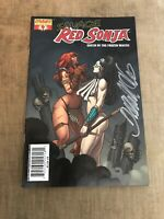 Signed Savage Red Sonja Queen of the Frozen Wastes #4 Frank Cho Virgin Variant