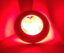 MARINE BOAT RV BUS TRAILER TRUCK AUTO LED 3 RED COLORED ROUND COURTESY LIGHT ODM