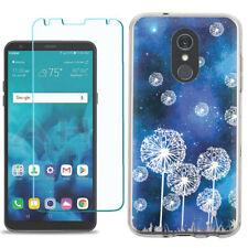 TPU Phone Case for LG Stylo 5 w/ Tempered Glass - Dandelion Stars