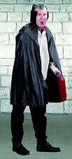 Reversible PVC Cape & Collar (Black & Red) Halloween Fancy Dress Cloak P6430