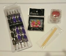 NAIL ART LOT MASH 5 X 2 DOTTING TOOLS LA SPASH GLITTER RED BLUENESS TN180 ROSES