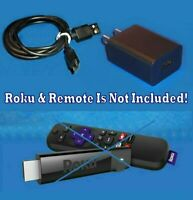 HQ Power Supply Charger + HD 3' Power Cord USB M Cable Roku 3920 Streaming Stick