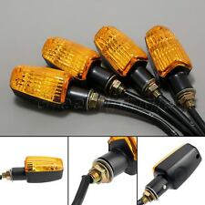 4x Motorcycle Mini Turn Signal Indicators Bulb Amber Light for Honda XR250R 1996