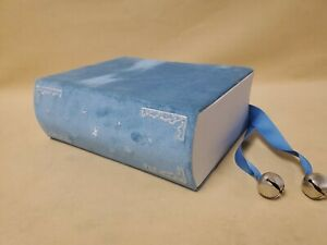 Rare Nordstrom Gift Box Blue Book Shaped Box W/ Bells 1999