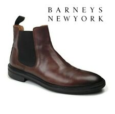 Barneys New York Chelsea Brown Leather Designer Ankle Boots Men's Size 12 Shoes