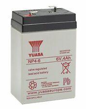 Yuasa NP4-6 Blei-Akku 6V 4000mAh Bleigel Faston-Anschluß 4,8mm