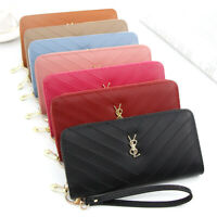 New Fashion Casual Women's Clutch Handbag Leather Long Wallet Zipper Purse Bag