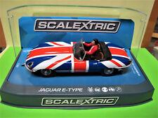 "Scalextric  Jaguar E-Type    "" Union Jack  ""   Ref. C3878"