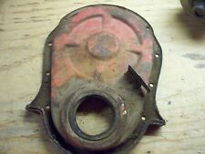 "65 66 67  396 427 BIG BLOCK CHEVY 7"" TIMING COVER NO DOWEL PIN A O L timing tab"