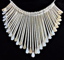"NWT Liz Claiborne Silver & Gold Spoon Necklace 17"" Long"