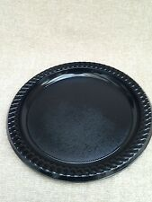 48x plastic black disposible 23cm plate for all occasions