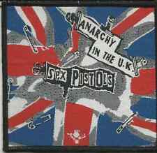 SEX PISTOLS anarchy in the uk RARE WOVEN SEW ON PATCH - no longer made DARK RIM