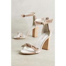 869109b97ec92 Anthropologie Jeffrey Campbell Velvet Heeled Bow Sandals Heels Shoes 11
