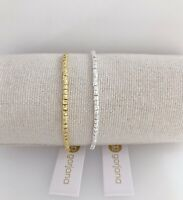 NEW GORJANA California Style Laguna Adjustable Beaded Slide Bracelet Gold Silver
