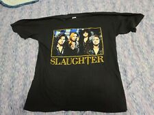 SLAUGHTER CONCERT TOUR SHIRT 90s 80s Cinderella poison lynch mob warrant XL