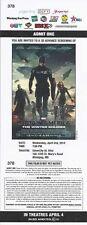 Chris Evans CAPTAIN AMERICA WINTER SOLDIER Scarlett Johansson premiere ticket