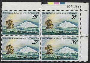 Norfolk Island SG 129: 1973 Capt. Cook Bicentenary in corner block of 4, VF-NH