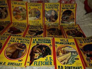 Lotto 18 GIALLI ECONOMICI MONDADORI da anni 40 prime edizioni Palmine Nerbini