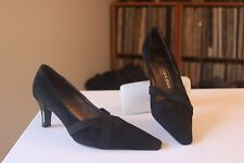 Peter Kaiser Black Suede 2 1/2 Inch Heel Pumps UK GER Size 7 Made In Germany