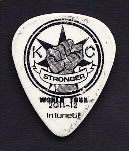 Kelly Clarkson Cory Churko White Guitar Pick - 2011-12 Stronger Tour