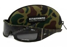 Mens POLARIZED Camouflage Sunglasses for Pro Fishing & Hunting with case
