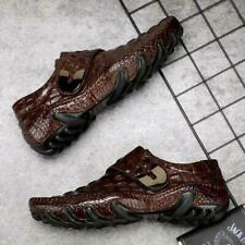 Men Genuine Leather Crocodile Print Comfortable Business Loafers Driving Shoe US