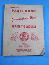 OWNERS PARTS BOOK GM DIESEL SERIES 110 DETROIT 1964  MANUAL
