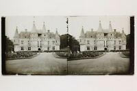 Château A Identificare Placca Da Lente Stereo Vintage 6x13cm