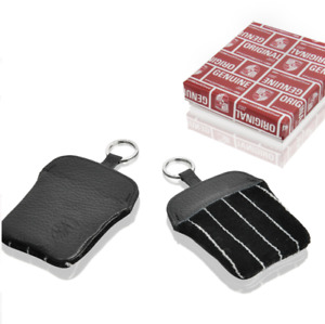 Pinstriped velour key pouch with embossed Porsche Crest for all mode PCG93010010
