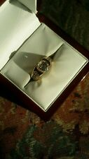 Tcw 6.8grs Yellow Gold. 1.15 Center Vintage Old Mine Cut Diamond ring. 1.60