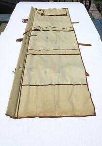 Vintage ORVIS Canvas Fishing Rod Bag Case Carrier Leather Straps #2