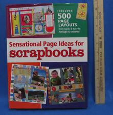 Scrapbook Idea Book Hardcover Sensational Page Ideas For Scrapbooks