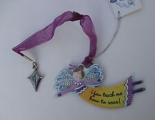 cc You teach me to soar ALWAYS AN ANGEL Ornament kite car charm mom teacher