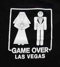Game Over Getting Married Large T-Shirt Las Vegas Elope Bride Groom Lg Tee