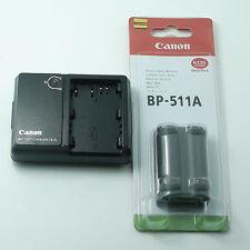 BP-511A Battery & CB-5L Charger For Canon EOS 50D D60 D30 20D 5D G6 G5 G3 G2 G1