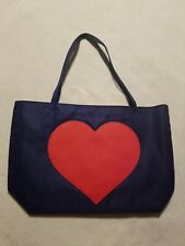 """AVON """"Hearts Aglow"""" Tote/Purse/Bag Navy/Red"""